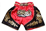 Nakarad Pantaloncini da Boxe thailandesi per i Bambini (2-10anni) Nuovi Modelli (Nero, XS (5-6anni))
