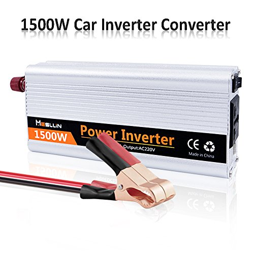 Mesllin Car inverter convertitore 1500 W (3000 W picco)...