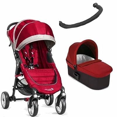 Cochecito dos piezas silla y capazo City Mini 4 - Rojo