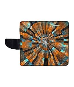 KolorEdge Printed Flip Cover For Lenovo S1 Multicolor - (1478-50KeMLogo11728LenovoS1)