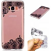 Funda SAMSUNG S8 Plus silicona transparente Ultra-fino TPU suave Carcasa Bumper DECHYI Patrón arte-fiore del merletto