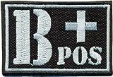 B+POS wh Blutgruppe Positiv Military Survivor Biker Rotkreuz Abzeichen Aufnäher