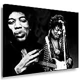 Jimi Hendrix Bild auf Leinwand 100x70cm k. Poster - Bild fertig auf Keilrahmen ! Pop Art Gemälde Kunstdrucke, Wandbilder / Bilder zur Dekoration - Deko. Musik Stars Kunstdrucke