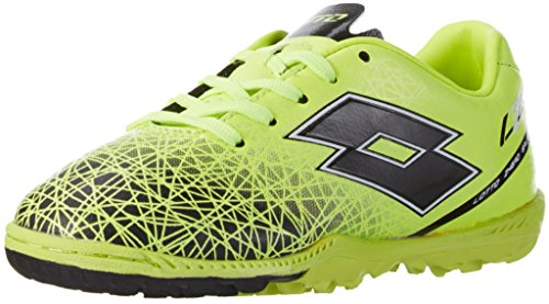 Lotto Lzg Viii 700 Tf Jr, Chaussures de Football Mixte Bébé Jaune (Ylw Saf/Blk)