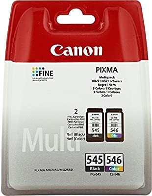Canon Pixma MG 2950 (PG-545 CL 546 / 8287 B 005) - original - 2 x Printhead multi pack (black, cyan, magenta, yellow) - 180 Pages par Canon - Têtes d'impression