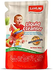 LuvLap Liquid Cleanser Refill, Anti-Bacterial, Food Grade, For Baby Bottles, Accessories and Vegetables, 1000m