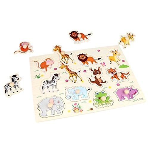Xshuai 30 * 22,5 cm umwelt Baby Kinder Tier Holz Attraktive Früherziehung Hand Puzzle Platte Spielzeug (Ninja Baby Muster Kostüm)