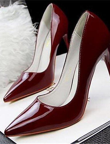 WSS 2016 Chaussures Femme-Habillé / Soirée & Evénement-Noir / Vert / Rose-Talon Aiguille-Talons-Talons-Similicuir fuchsia-us5 / eu35 / uk3 / cn34