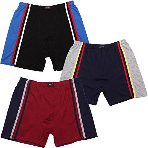Herren Boxer Shorts (Shorts, Unterhose) im 3er Pack Nr. 434 (Farben können leicht variieren) auch in Übergröße Mehrfarbig