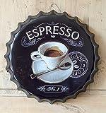 L'Esprit des Anges Dekoschild aus Metall in Kapselform für Kaffee, Espresso, Ø 40 cm