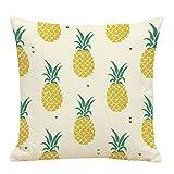 Nunubee Kreative Früchte Serie Ananas Muster Baumwolle Leinen Dekor Kissenbezüge Kissenbezug Kissenhülle, Stil 4
