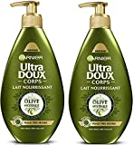 Garnier Ultra Doux Corps - Leche nutritiva  Olive Mythique, pieles muy secas, 250ml, 2 unidades de 250ml