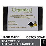 ORGANICAL Activated Charcoal & Tea Tree Oil Soap Sulphate & Paraben Free 150
