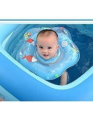 Baby nadador bebé nadar seguridad ajustable doble air bag collar anillo anti-back cuello círculo