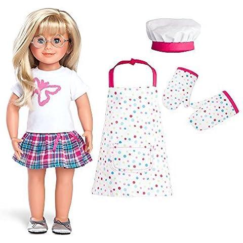 Per bambini Chef Cottura al forno Grembiule Set e WeGirls MONICA Bambola 45.7cm (Bianco, Stampa Farfalla) Incluso Premium Brand