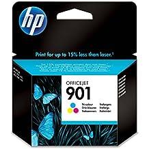 HP 901 - Cartucho de tinta Original HP Tricolor para HP OfficeJet 4500 G510 a, g, n J45244, J4535, J4580, J46244, J4660, J4680 ~360 paginas