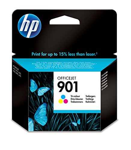 HP 901 - Cartucho de tinta Original HP Tricolor para HP OfficeJet 4500 G510 a, g, n J45244, J4535, J4580, J46244, J4660, J4680 ~360 paginas