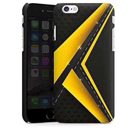 Apple iPhone 5s Housse Outdoor Étui militaire Coque Noir jaune Motif Motif Cas Premium mat