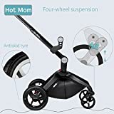 Hot Mom Limited Edition Kombikinderwagen und Buggy Sportwagen 3-in-1 Travelsystem 2016 mit Babywanne ,Schwarz - 7