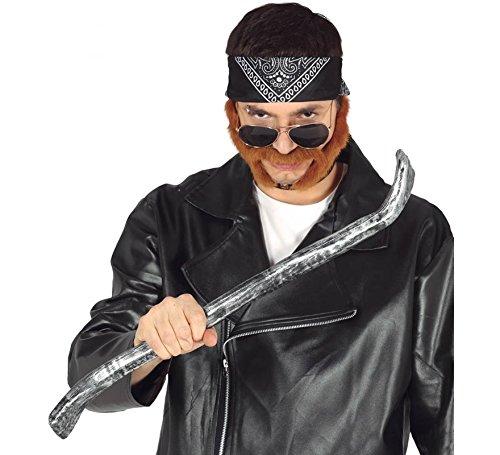 Zubehör Kostüm Mechaniker - Guirca Silber graue Brechstange Karneval Fasching Party Gangster Mechaniker Polizist Cop Polizei ca. 60 cm