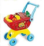 Brigamo Spielzeug Einkaufswagen inkl. 19 teiligem Warensortiment