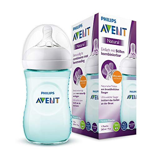 Philips Avent Biberon Natural anti-colica, 260ml, Turchese SCF033/15