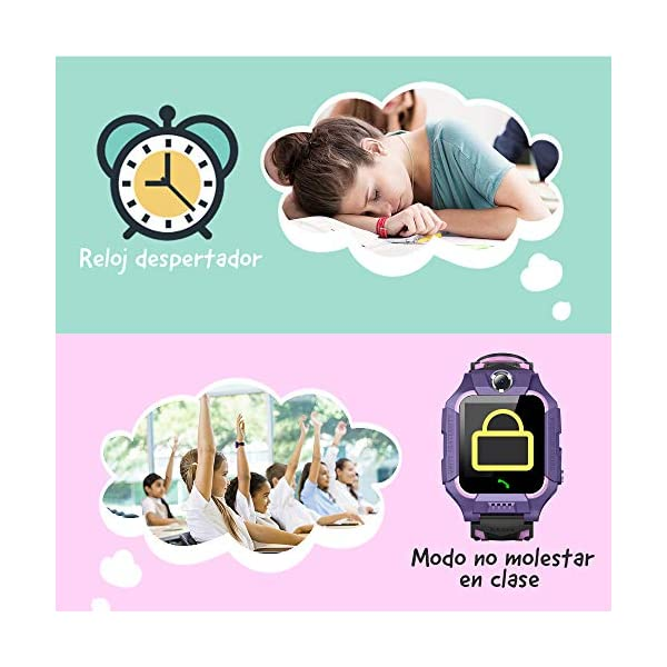 NAIXUES 2020 Smartwatch Niños, Reloj Inteligente para Niños Impermeable 67 con Linterna, SOS, LBS, Comunicación… 5