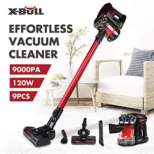 X-BULL 8000pa Aspiradoras Verticales Cordless Cleaner Alta Eficiencia Succión Fuerte
