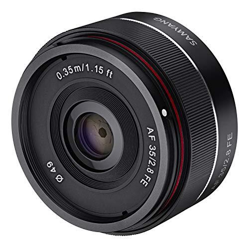 Oferta de Samyang SA7021 - Objetivo para cámaras Digitales sin Espejo Sony E (AF 35 mm/2.8, F2.8, Lentes asféricas, Sensor Full Frame) Color Negro