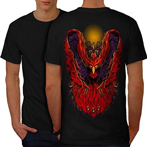 wellcoda Vogel Flügel Gefieder Tier Männer S Ringer T-Shirt (Flügel Ringer T-shirt)