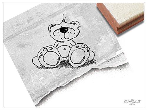 Stempel - Kinderstempel Motiv TEDDY BÄR - Bildstempel Motivstempel Geschenk für Kinder - Kita Schule Einschulung Basteln Deko - von zAcheR-fineT