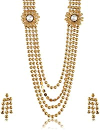 Fashion For Sure Gold Plated Multi-Strand Necklace Set For Women (N83)