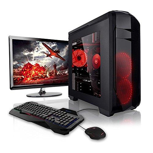 Megaport Super Méga Pack - Unité Centrale pc Gamer Complet Ecran LED 22' Claviers de Jeu et Souris AMD FX-6300 GeForce GTX1050Ti 8Go 1To Windows 10 Ordinateur de Bureau pc Gaming
