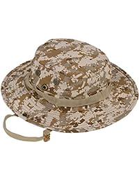 Demarkt 1 Pcs Chapeau De Soleil Seau Chapeau Woodland Ajustable Chapeau de Pêche Militaire de Plein air Chasse Protection UV Camouflage Forêt pour Sports Chapeau de Voyage