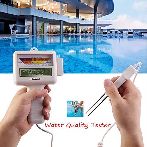 Liqiqi testeur de pH, 2en 1PH et Chlore CL2Niveau Mètre d'analyse de la qualité de l'eau...