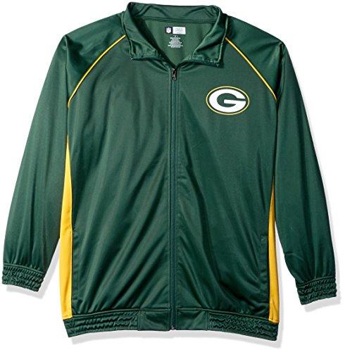 NFL Damen Packers Poly Tricot Track Jacket, Damen, HERN7XSAM, Dark Green/Gold, 1X Polo Track Jacket