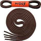 Lacets Ronds Miscly [3 Paires] Pour Chaussures, Baskets ou Bottines - Epaisseur: 4 mm de Diamètre (114cm, Brun)
