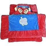 KIDZVILLA® Bedding Set For Newborn Baby With Comforter (Blue_RED)