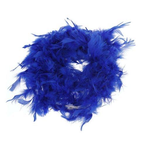 Asien Azul Real de la Boa de Plumas mullidas la decoración del Arte 6.6 pies de Largo