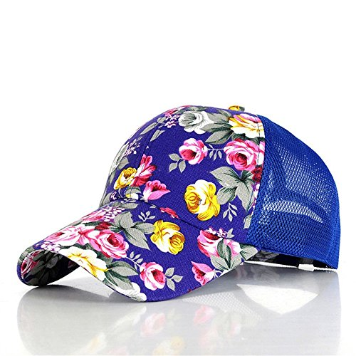 Summer Floral Rose Women's Retro Baseball Mütze Hut Mesh Sport Outdoor,Dark (Männliche Dark Kostüme Angel)