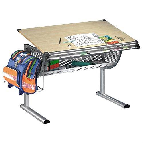 IDIMEX Bureau enfant écolier junior MARIO table à dessin réglable en hauteur plateau inclinable en MDF