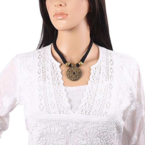 Mela Exclusive, Tribal, Dhokra art, Handcrafted Black Thread Necklace for Women -...