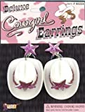Deluxe Cowgirl Hat Costume Earrings