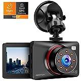 APEMAN Dash Cam 1080P FHD Car Camera with 8 IR LED Lights Super