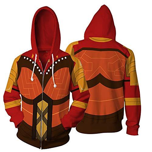 BchYu Unisex Anime Cosplay Männer Hoodie 3D Druck Long Sleeve Sweatshirt Kapuzenpullover Langarm Kapuzenjacke Black Panther Zipper XXXL
