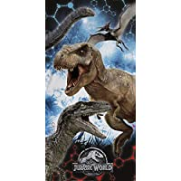 Jurassic World Montage Cotton Beach Bath Towel 70 x 140cm