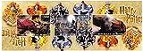 Harry Potter Briefmarken für Sammler. Eine sehr attraktive imperforate Blatt aus Benin, mit Briefmarken, die Harry Potter, Hogwarts Castle und der Hogwarts-Express. Post