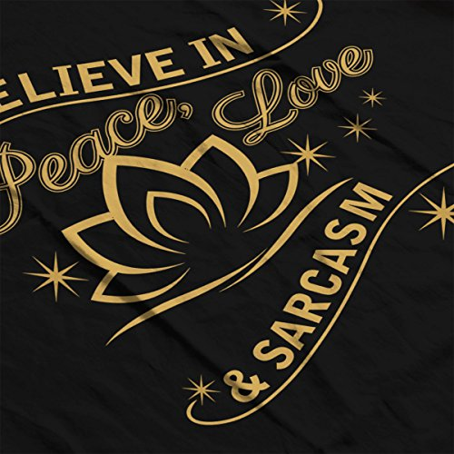 Peace Love And Sarcasm Women's T-Shirt Black