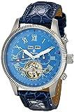 Burgmeister Armbanduhr für Herren mit Analog Anzeige, Automatik-Uhr und Lederarmband - Wasserdichte Herrenuhr mit zeitlosem, schickem Design - klassische Uhr für Männer - BM330-133 Malabo