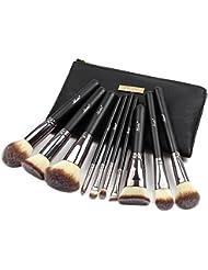 Matto Lot de 10 pinceaux à maquillage avec trousse de transport